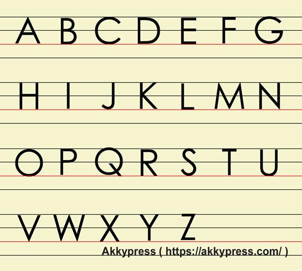 (大文字)ブロック体アルファベット