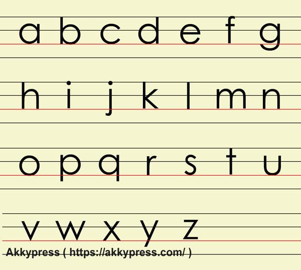 (小文字)ブロック体アルファベット