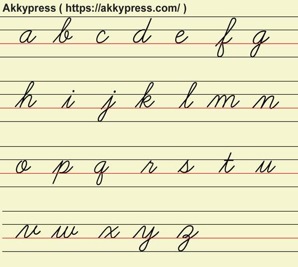 筆記体(小文字)アルファベット